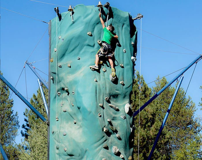Rock Climbing Wall at the Village at Sunriver