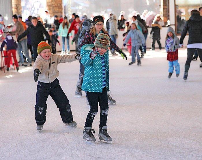 we rent skates - Christmas Village Ice Skating Rink